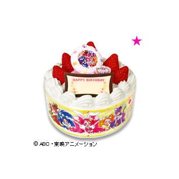 キャラデコお祝いケーキ キラキラ☆プリキュアアラモード<br /> ショートケーキ(苺サンド)/(フルーツサンド)