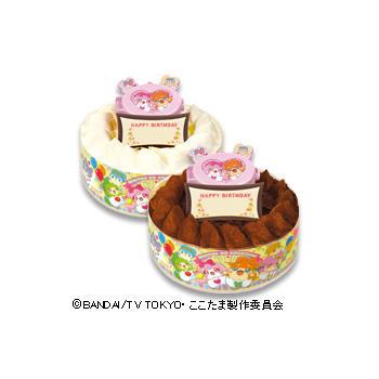キャラデコお祝いケーキ かみさまみならい ヒミツのここたま (チョコレート)/(ホワイトチョコレート)