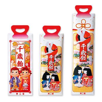 千歳飴詰め合わせ袋(標準・ミニ・ペコポコ)