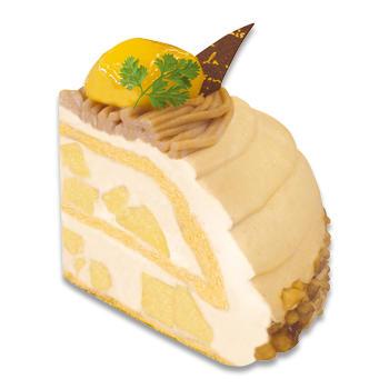 栗と洋梨のケーキ
