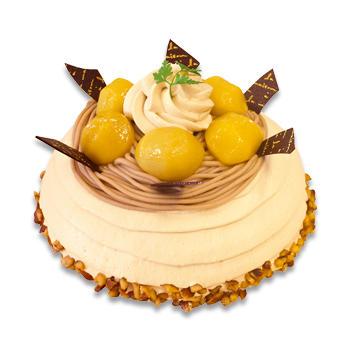 栗と洋梨のドームケーキ