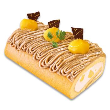 栗と洋梨のロールケーキ(L)