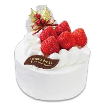 クリスマスあまおう苺のショートケーキ