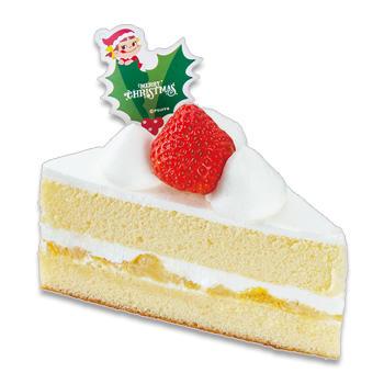 クリスマス三角ショートケーキ(ピーチサンド)