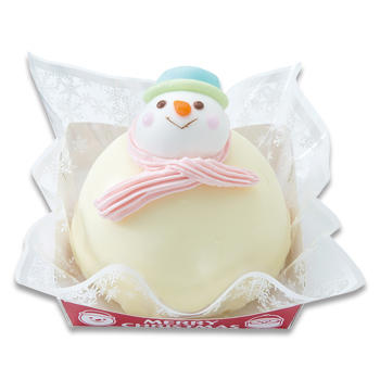 クリスマス雪だるまケーキ