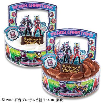キャラデコクリスマス 仮面ライダージオウ チョコレートケーキ (チョコレート)/(ホワイトチョコレート)