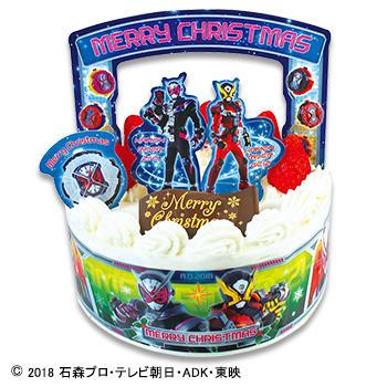 キャラデコクリスマス 仮面ライダージオウ ショートケーキ(苺サンド)/(フルーツサンド)