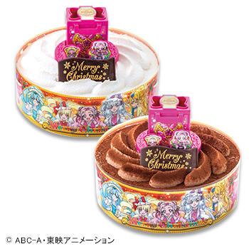 キャラデコクリスマス HUGっと!プリキュア チョコレートケーキ (チョコレート)/(ホワイトチョコレート)