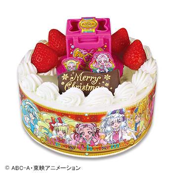 キャラデコクリスマス HUGっと!プリキュア ショートケーキ(苺サンド)/(フルーツサンド)