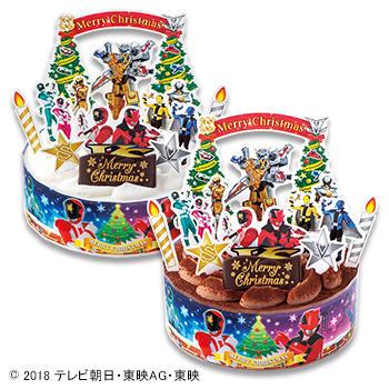 キャラデコクリスマス 怪盗戦隊ルパンレンジャーVS警察戦隊パトレンジャー チョコレートケーキ (チョコレート)/(ホワイトチョコレート)