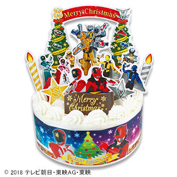 キャラデコクリスマス 怪盗戦隊ルパンレンジャー VS警察戦隊パトレンジャー ショートケーキ (苺サンド)/(フルーツサンド)