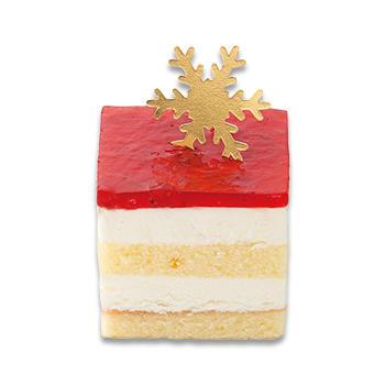クリスマス苺のレアチーズケーキ