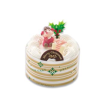 ペコちゃんサンタのミニケーキ