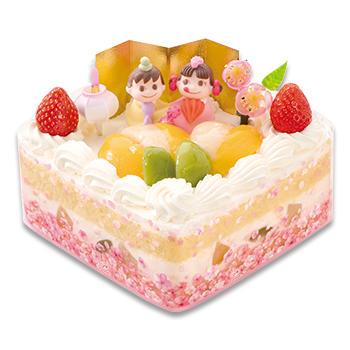 ひなまつり 三種の桃のショートケーキ