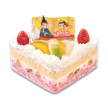 ひなまつり 三種の桃のショートケーキ(ハーフ)