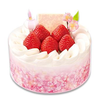 ひなまつり あまおう苺のプレミアムショートケーキ