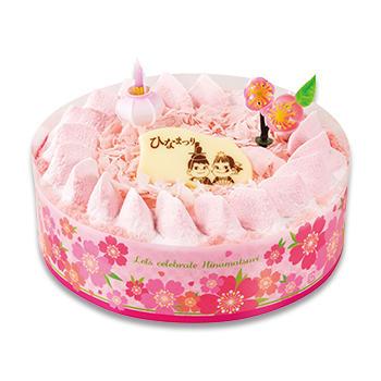 ひなまつり 苺ミルクチョコ生ケーキ(S・M)
