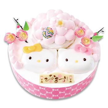 KITTY&MIMMYひなまつりケーキ