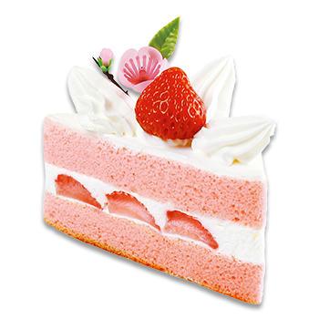 ひなまつり 桃色三角ショートケーキ