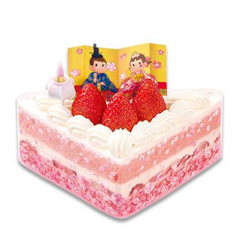 ひなまつり 桃色ショートケーキ(ハーフ)