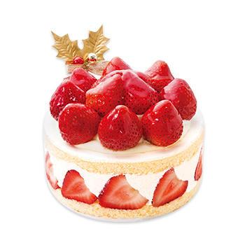 あまおう苺たっぷりの贅沢クリスマスショートケーキ