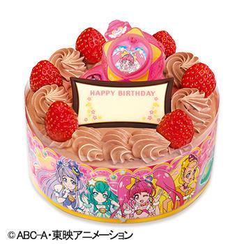 キャラデコお祝いケーキ スター☆トゥインクル プリキュア チョコショートケーキ(ピーチ&アップル)