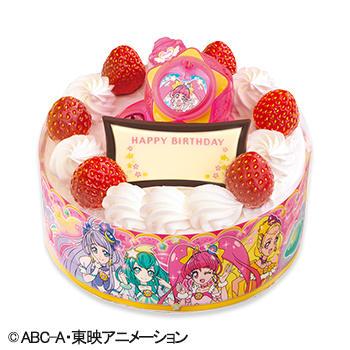 キャラデコお祝いケーキ スター☆トゥインクル プリキュア ショートケーキ(ピーチ&アップル)