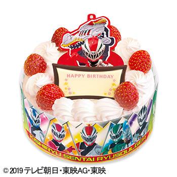 キャラデコお祝いケーキ 騎士竜戦隊リュウソウジャー ショートケーキ(ピーチ&アップル)