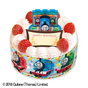 キャラデコお祝いケーキ きかんしゃトーマス ショートケーキ(ピーチ&アップル)