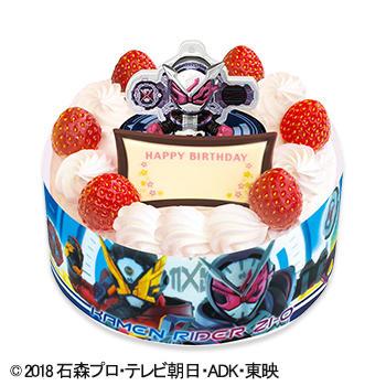キャラデコお祝いケーキ 仮面ライダージオウ ショートケーキ(ピーチ&アップル)