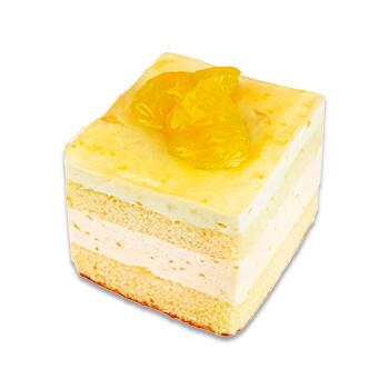 甘夏のババロアケーキ