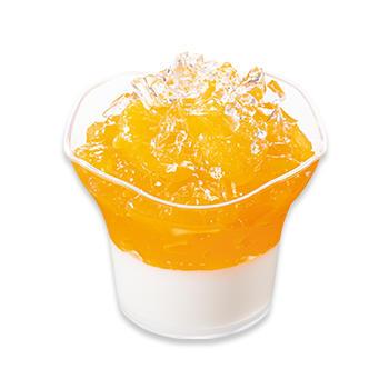 きらきらミルキープリンゼリー(甘夏&オレンジ)