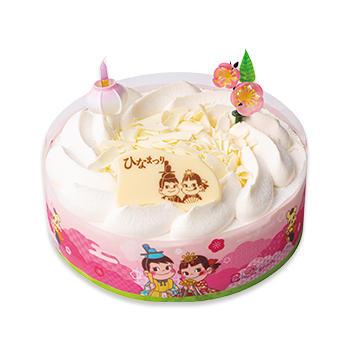 ひなまつりホワイトチョコ生ケーキ(S・M)