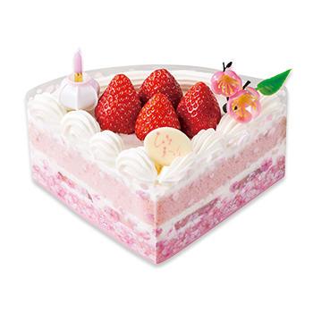 ひなまつり扇ショートケーキ