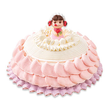 ひなまつりペコちゃんプリンセスケーキ