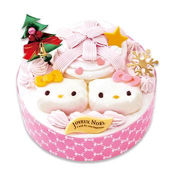 不二家のキティちゃんクリスマスケーキ