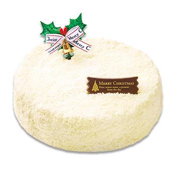 クリスマス雪降るダブルチーズケーキ
