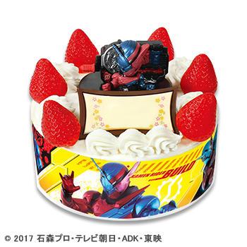 キャラデコお祝いケーキ 仮面ライダービルド ショートケーキ(ピーチサンド)