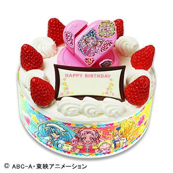 キャラデコお祝いケーキ HUGっと!プリキュア <br />ショートケーキ(ピーチサンド)