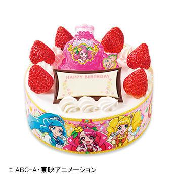 キャラデコお祝いケーキ ヒーリングっど♡プリキュア ショートケーキ(ピーチ&アップル)