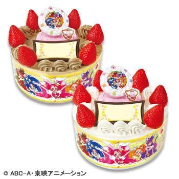 キャラデコお祝いケーキ キラキラ☆プリキュアアラモード<br /> ショートケーキ(ピーチサンド)/チョコショート(ピーチサンド)