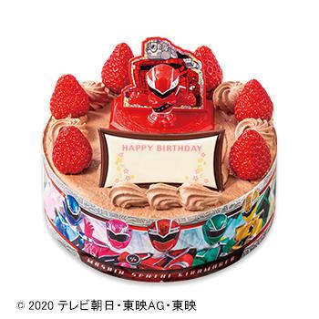 キャラデコお祝いケーキ 魔進戦隊キラメイジャー チョコショートケーキ(ピーチ&アップル)