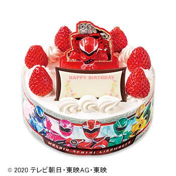 キャラデコお祝いケーキ 魔進戦隊キラメイジャー ショートケーキ(ピーチ&アップル)