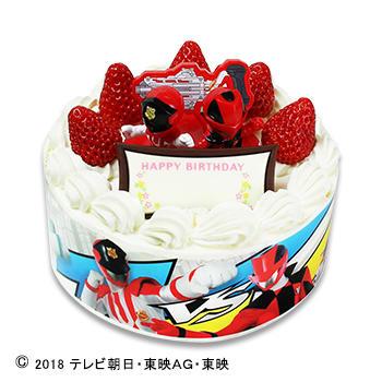 キャラデコお祝いケーキ 快盗戦隊ルパンレンジャー VS警察戦隊パトレンジャー ショートケーキ(苺サンド)/(フルーツサンド)