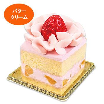 苺のフラワーバターケーキ