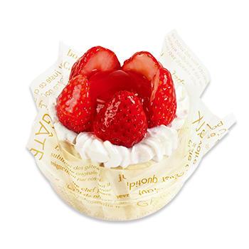 苺のフラワーケーキ