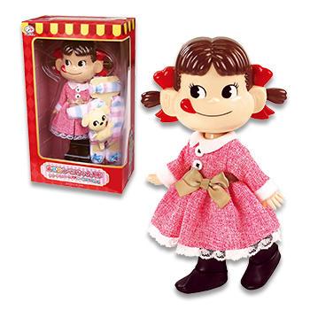 着せ替えペコちゃん人形 ツイードワンピース&ルームウェアセット