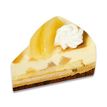 山形県産ラフランスと焦がしキャラメルのケーキ