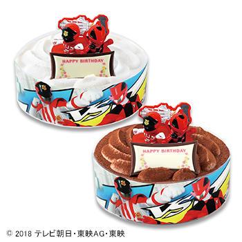 キャラデコお祝いケーキ  快盗戦隊ルパンレンジャー VS警察戦隊パトレンジャー(チョコレート)/(ホワイトチョコレート)