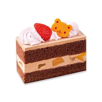 くまのチョコショートケーキ(苺)